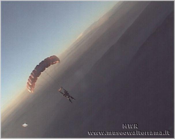 Il lancio al tramonto
